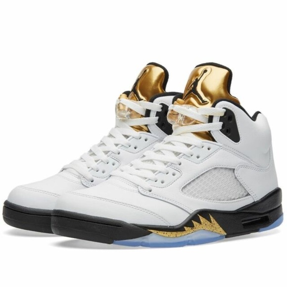 Air Jordan Retro 5 Olympic Gold